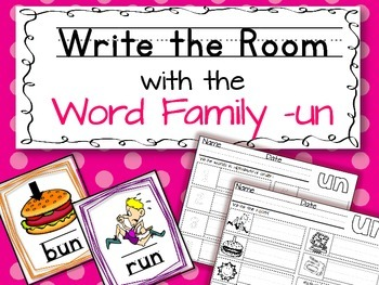 Write the Room: Word Family -un