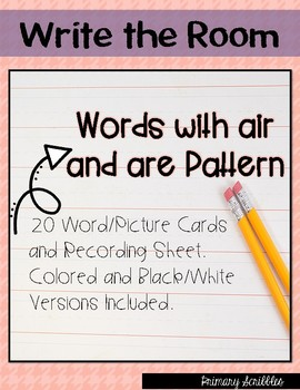 Write the Room (Words with air and are Spelling Pattern)