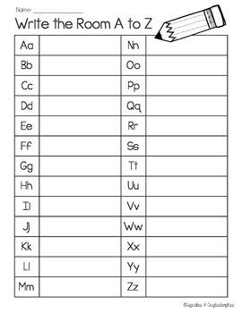 Write the Room {{Work on Writing}} Names, Alphabet && Numbers FREEBIE!