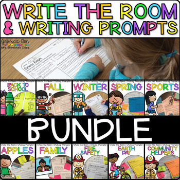 Write the Room Writing Prompts Growing Bundle {Cardstock or Post It Notes}