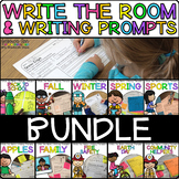 Write the Room & Writing Prompts Bundle {Cardstock or Post It Notes}