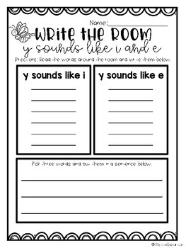 Write the Room- Y SOUNDS LIKE I AND E