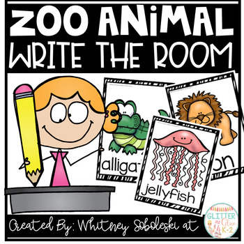 Write the Room-Zoo Animal Themed FREEBIE!