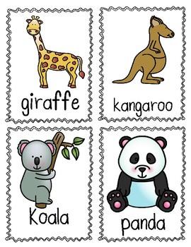 Write the Room (Zoo Theme)