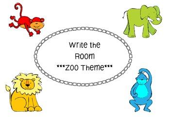 Write the Room - Zoo Theme Free
