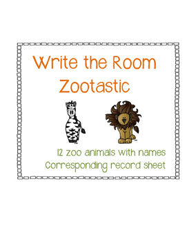 Write the Room Zootastic