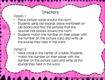 Write the Room, a Literacy Center Activity