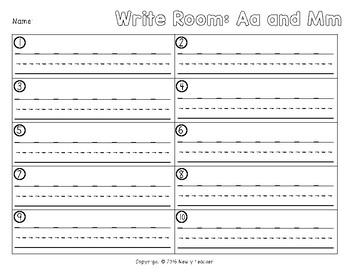 Write the Room - Aa and Mm
