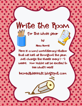 Write the Room - all year long