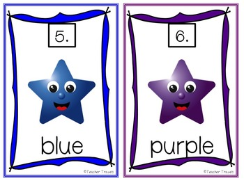 Write the Room and Emergent Readers - Star Color Words