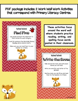 Write the Room and Find Five Word Work for Primary Literacy Centres