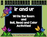 "Write the Room and Roll, Read and Color ""ir and ur"" { R-Co"