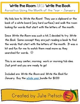 Write the Room and Write the Book JANUARY