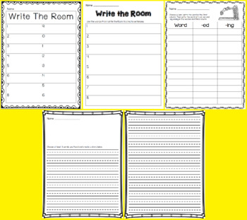 Write the Room - ed & ing