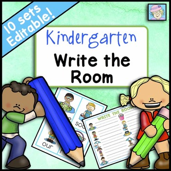 Write the Room Kindergarten Centers for All Year EDITABLE