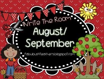August/September Write the Room