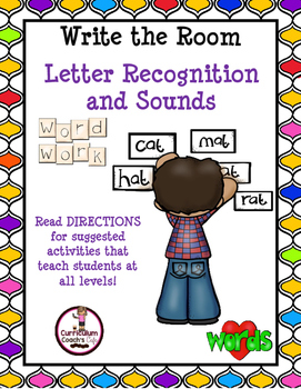 Write the Room for Letter Recognition.  26 Templates!!!