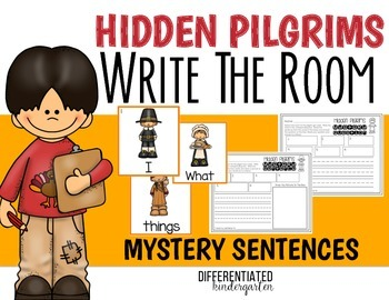 Write the Room for Mystery Sentences-November-Differentiated