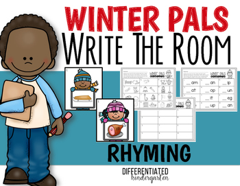 Write the Room for Rhyming Fun - January -Differentiated