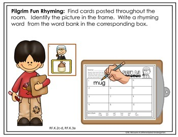 Write the Room for Rhyming Fun - November -Differentiated