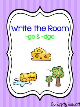Write the Room - ge/dge ending
