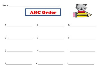 Write the Room in ABC Order!