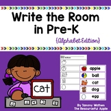Write the Room in Pre-K {Alphabet Edition}