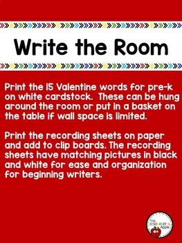Write the Room in Pre-K {Valentine's Edition}