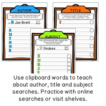 Library Skills: Write the Room in the School Library Media Center