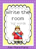 Write the Room 'ing' Words