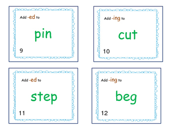 Write the Room or SCOOT-Suffixes-ed and -ing --doubling the consonant