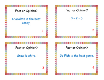 Write the Room or Scoot-Fact and Opinion