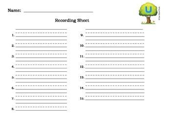 Write the Room-short u-cvc words