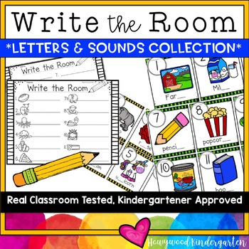 Write the Room ... simple, letter and sounds literacy word work