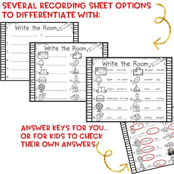Write the Room . simple, seasonal literacy word work for each month