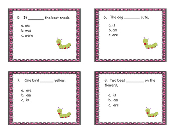 Write the Room-verbs are, am, is, were, was