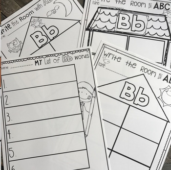 Write the Room with ABC's Freebie