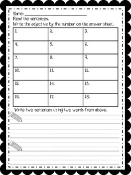 Write the Room with Adjectives