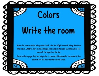 Write the Room with Colors