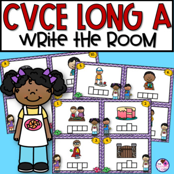 Write the Room with Long A CVCe Words