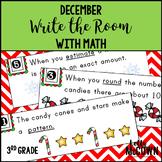 Math Write the Room December 3rd Grade | Math Centers 3rd Grade