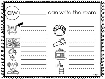 Write the Room with QR Codes: Diphthongs