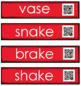 Write the Room with QR Codes: Long Vowels