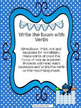 Write the Room with Verbs