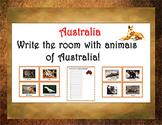 Write the Room with animals of Australia!