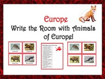 Write the Room with animals of Europe!