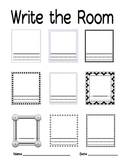 Write the Room worksheet Independent Center Word Work Vocabulary Aquistition