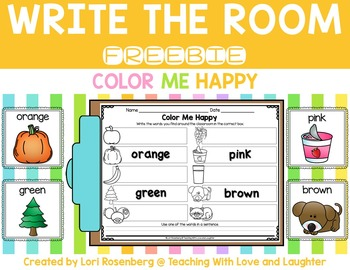 Write the Room...Color Me Happy {Freebie}