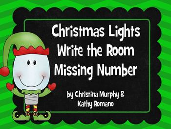 Write the Room/Missing Number Christmas Edition