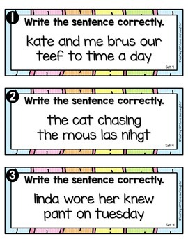 Write the Room...Sentence Editing